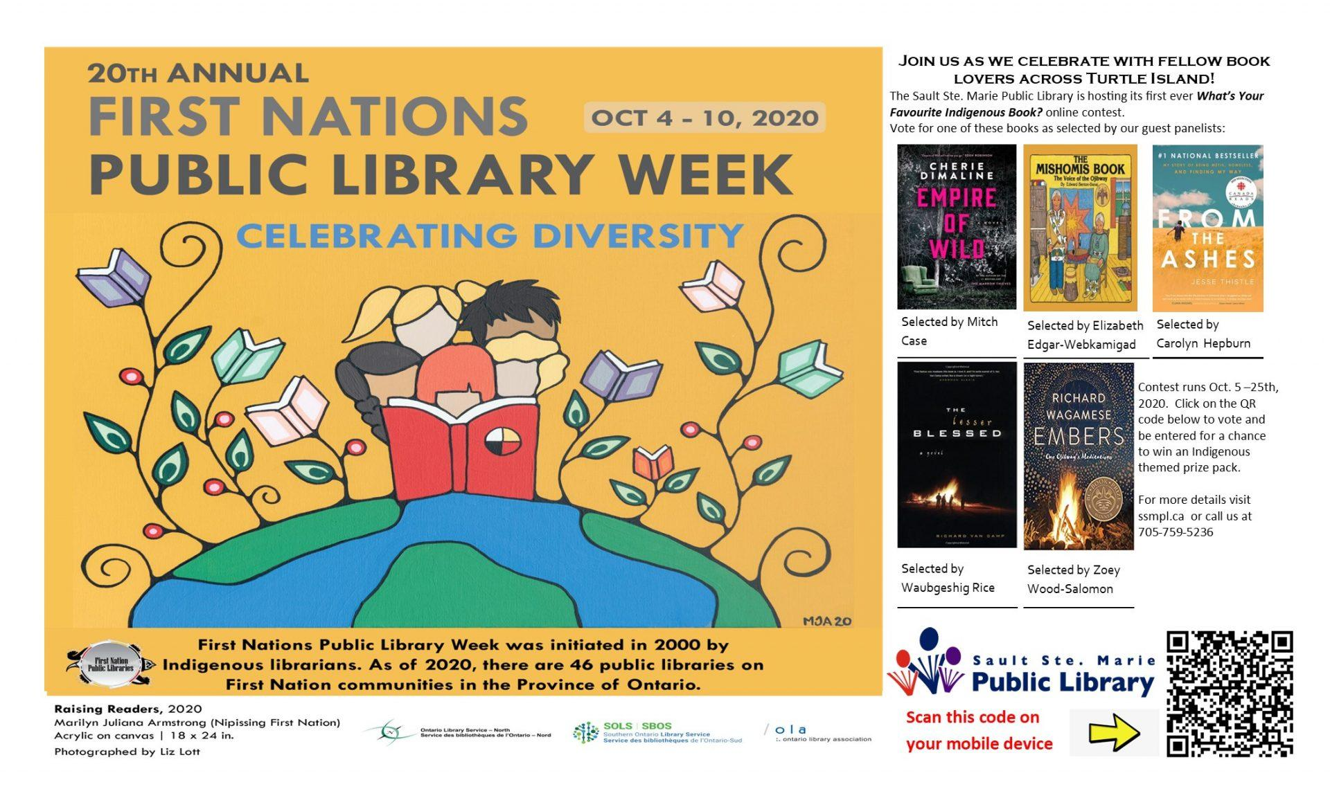 First Nations Public Library Week Contest Poster