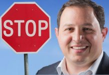 Mayor Provenzano and Stop Sign