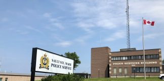 Sault Police Sign and Building
