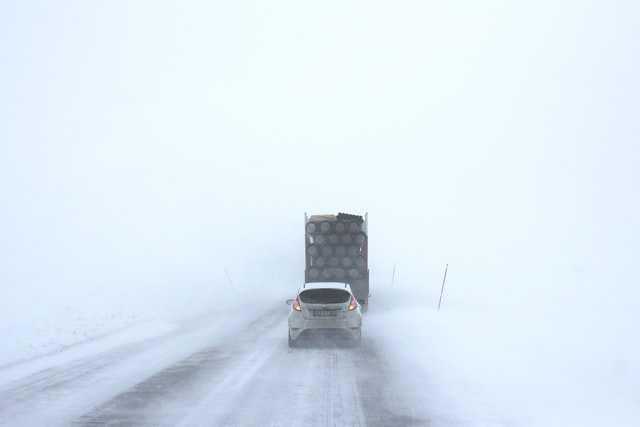 Winter Driving Road