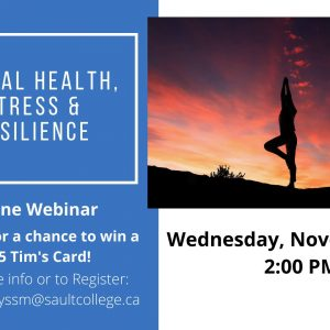 Mental Health, Stress, and Resilience Webinar