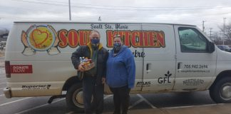 Boreal_Dale Malboeuf and Angel Dawson representing the Soup Kitchen.