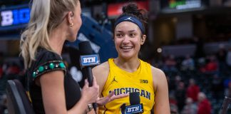 Hailey Brown Michigan Wolverines Basketball