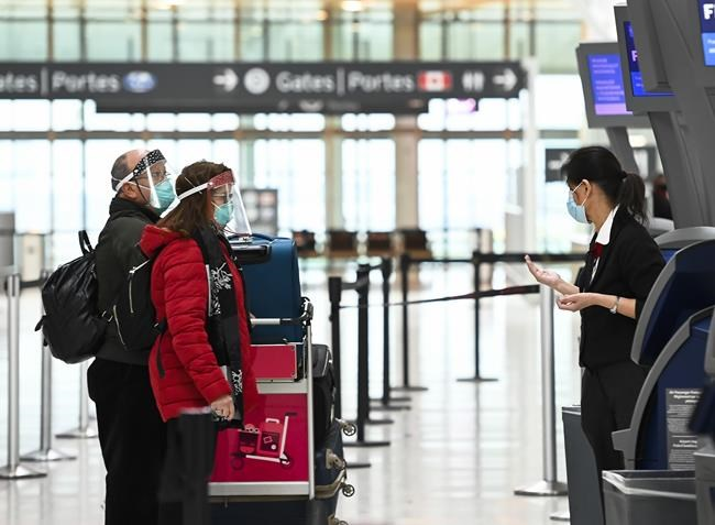 Travellers will need a negative COVID test before landing in Canada