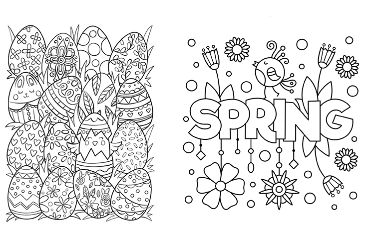 Downtown Association Spring colouring contest