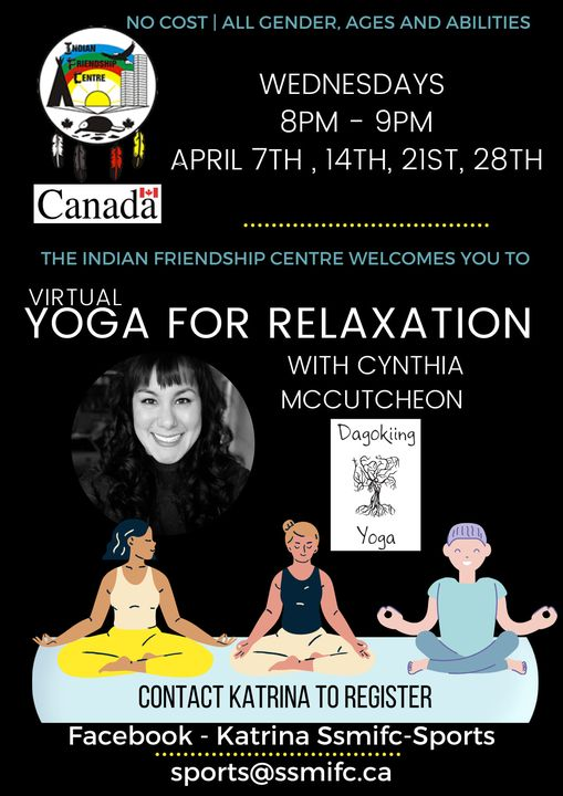 Indian Friendship Centre -Virtual Yoga for Relaxation