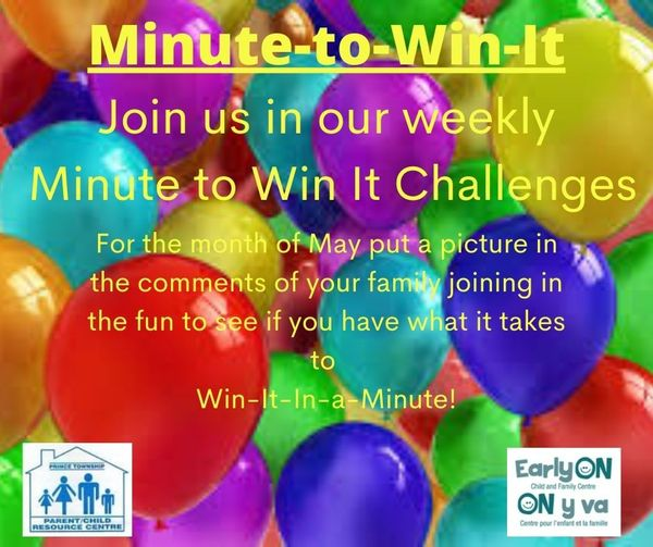 EarlyON Minute to Win It Challenge